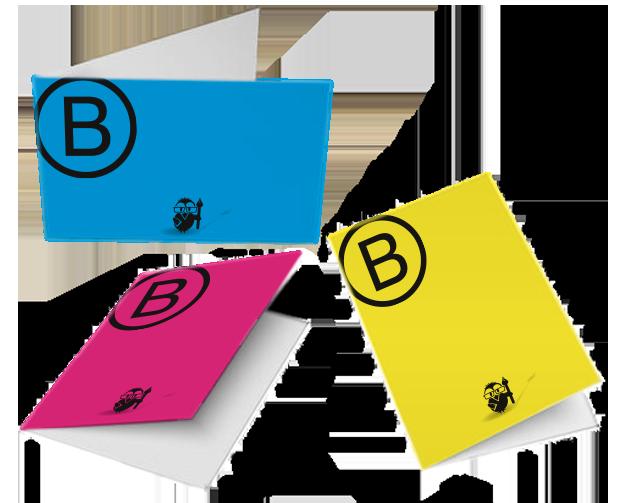 Bestelloptionen Klapp Visitenkarten Hoch 5 5 Farbig Br