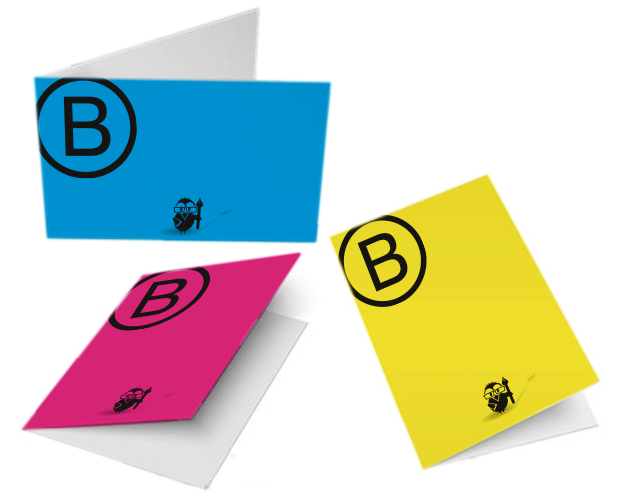 Bestelloptionen Klapp Visitenkarten Quer 4 4 Farbig